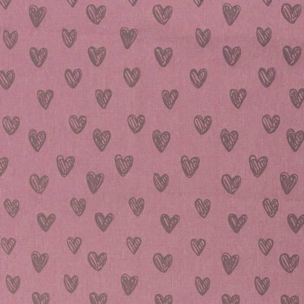 Magic reflekseffekt softshell hjerter rosa