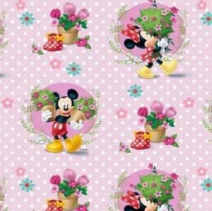 Bilde av Jersey print med Mickey & Minnie Mouse, prikker
