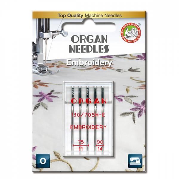 Organ Broderinål #75-90, 5 stk.